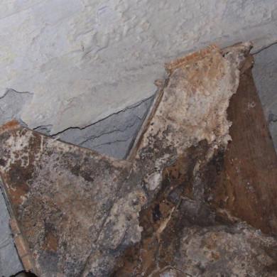 A műemléképület értékes mozaikparkettáját ilyen súlyos gombafertőzés esetén már a faanyagvédelmi szakértő sem tudja megmenteni